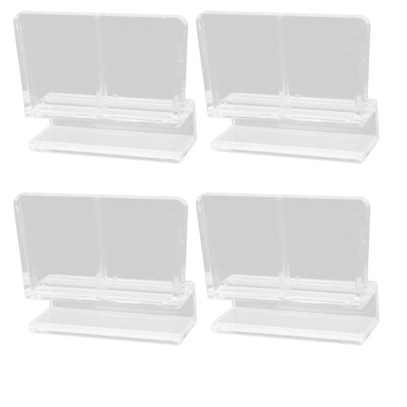 Uxcell Plastic Clamp Clip Hinge Clear for 8mm Thickness Glass Door 4pcs