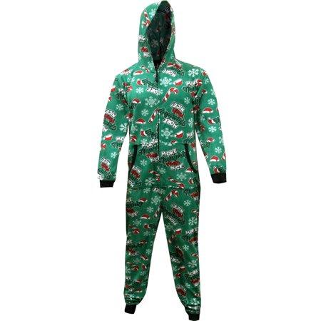 More Naughty Than Nice Holiday Hooded One Piece Pajama