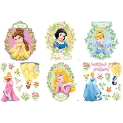 Blue Mountain Wallcoverings 31720454 Princess Magical Garden Self-Stick Decor...