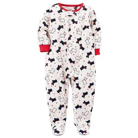 dd2c7a941 Carter s - Carter s Baby Girls 1-Piece Footed Fleece Pajamas ...