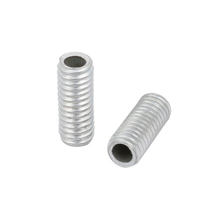 20Pcs M6 1mm Pitch Threaded Zinc Plated Pipe Nipple Lamp Parts 15mm Long - image 1 de 2