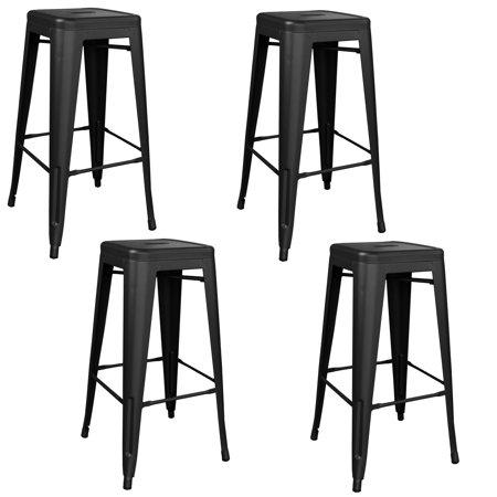 Incredible Amerihome Indoor Outdoor 30 Inch Metal Bar Stool Set 4 Piece Inzonedesignstudio Interior Chair Design Inzonedesignstudiocom
