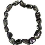 Womens Jewelry Bracelet Shungite Natural Stone Shape Beads Create EMF Cellphone Computer Protection