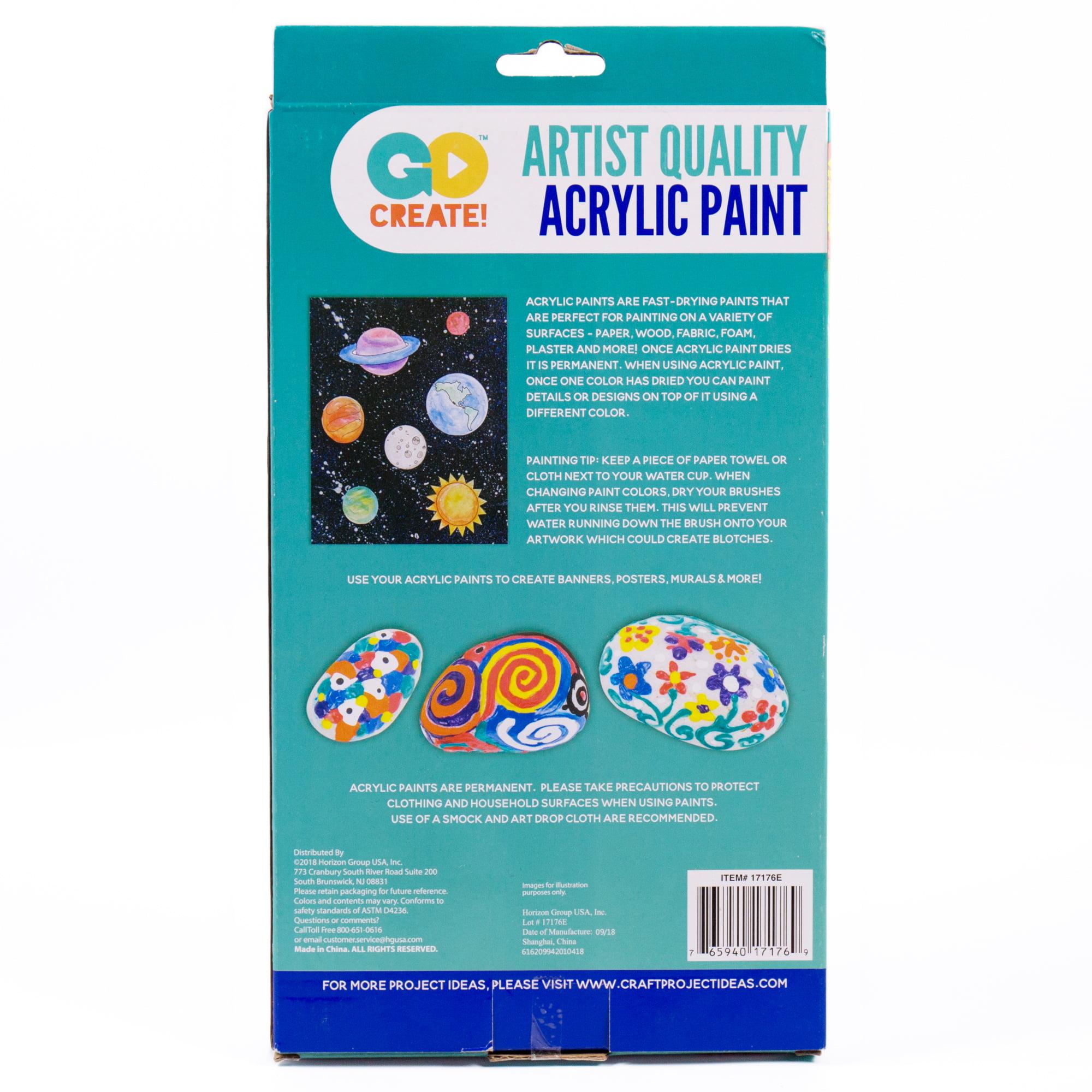 Go Create Permanent Acrylic Rainbow Paint Set 24 Count