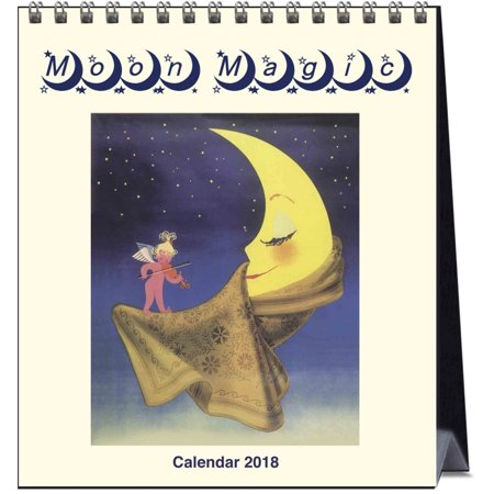 Moon Easel Calendar  2018 Moon By Catch Publishing