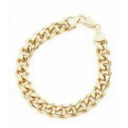 "18K Gold Plate Cuban Curb Chain Link 9mm Bracelet Lifetime Warranty 7"" 8"" 9"" 10"""