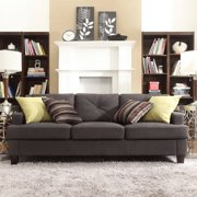 Chelsea Lane Upholstered Tufted Sofa - Dark Gray