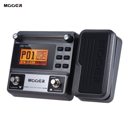 MOOER GE100 Guitar Multi-effects Processor Effect Pedal with Loop Recording(180 Seconds) Tuning Tap Tempo Rhythm Setting Scale & Chord Lesson