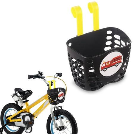 Mini-Factory Kid's Bike Basket, Cute Fire Truck Pattern Bicycle Handlebar Basket for Boy - Fire Truck (Bell Handlebar Basket)