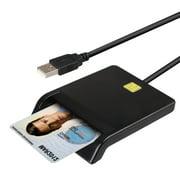 CAC Smart Card Reader - DOD Military USB Common Access Card Adapter - Military/ID Card/IC Bank Chip Card Reader, USB Smart Card Writer - Compatible with Windows XP/Vista/8/10, Mac OS 10.6-10.14
