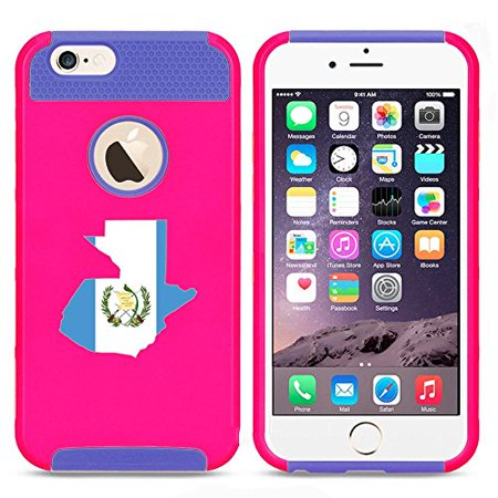 Apple iPhone 5 5s Shockproof Impact Hard Case Cover Guatemala Guatemalan Flag (Hot Pink-Blue ),MIP (Guatemala Cover)