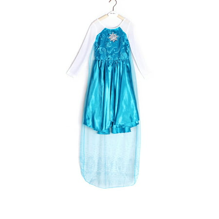 Girls Queen Princess Cosplay Birthday Party Fancy Dress Costumes for Kids