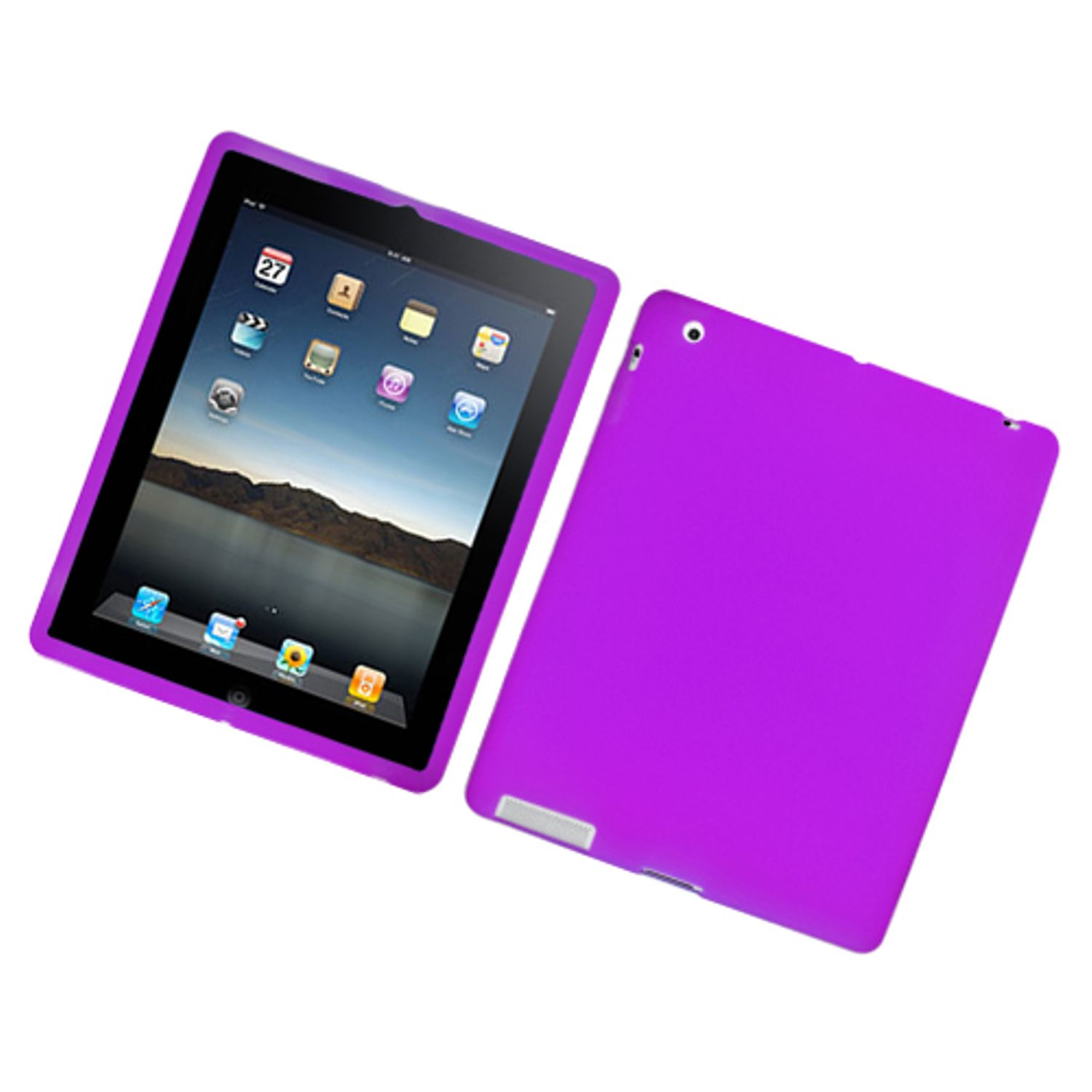 iPad 4 case, iPad 3 case, iPad 2 case, by Insten Rubber Silicone Soft Skin Gel Case Cover For Apple iPad 2/3/4 with Retina display