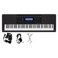 Casio WK-245 76-Key Premium Portable Keyboard Package with Headphones, Stand and Power Supply