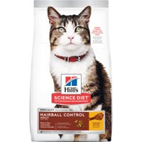 Hill's Science Diet Adult Hairball Control Chicken Recipe Dry Cat Food, 15.5 lb bag