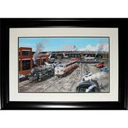 Midway Memorabilia torontotrains_art Toronto Train Station Track Vintage Painting Frame