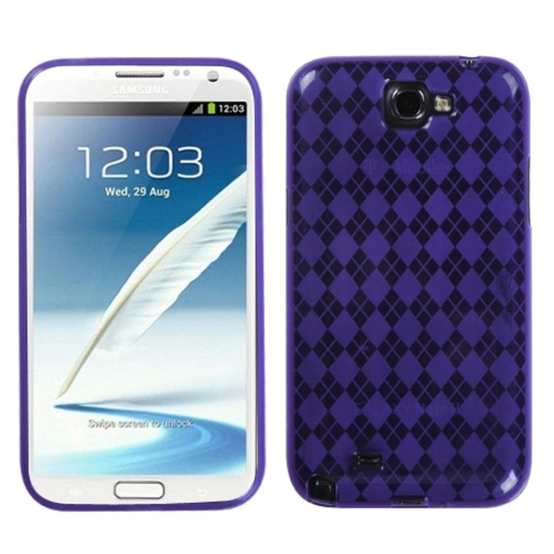 Insten Purple Argyle Candy Skin Case for SAMSUNG: Galaxy Note II (T889/I605/N7100)