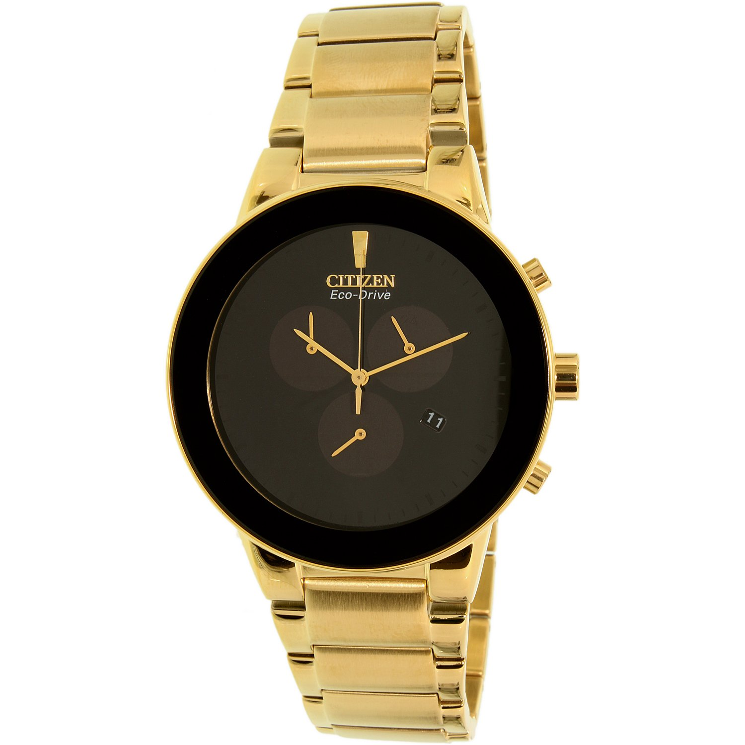 Citizen Men's Eco-Drive AT2242-55E Gold Stainless-Steel Plated Dress Watch
