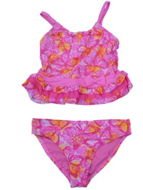 9f8e938480e9d Product Image Angel Beach Girls Pink Floral Print Swimming Suit Swim  Tankini Bathing Suit 2 PC