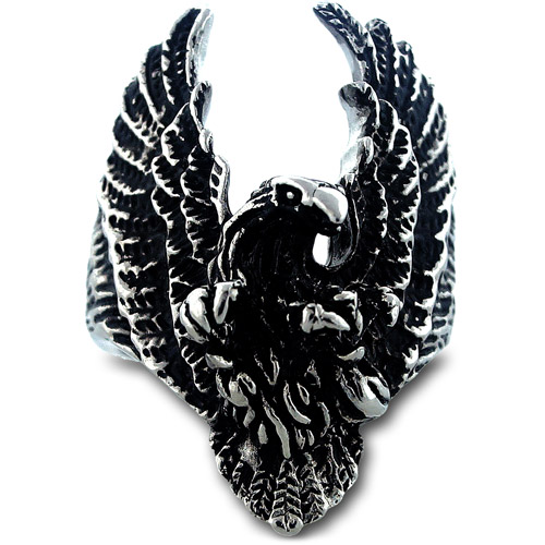 Men's Stainless Steel Flying Eagle Ring