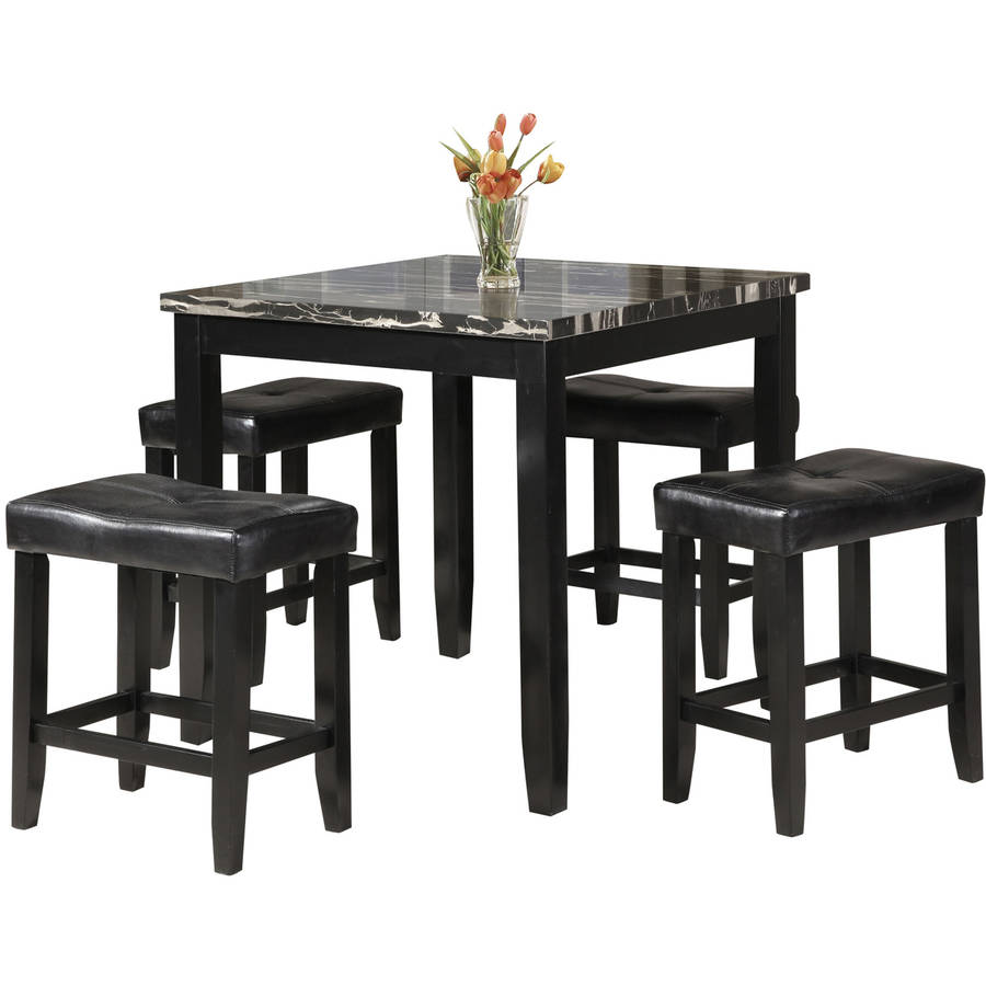 Acme Furniture Blythe  Piece Counter Height Faux Marble Dining