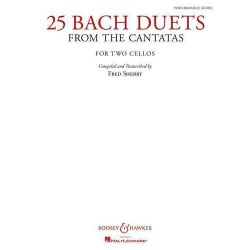 25 Bach Duets from the Cantatas: Two Cellos Performance Score by