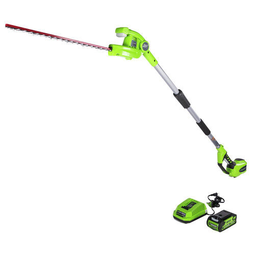 Greenworks 22-Inch 40V Cordless Pole Hedge Trimmer, 2.0Ah Battery Included PH40B210 by Sunrise Global Marketing, LLC