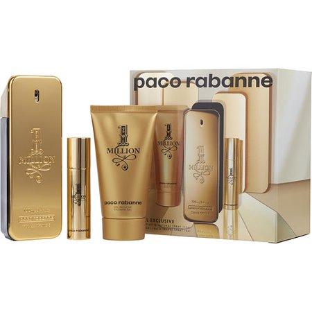 PACO RABANNE 1 MILLION by Paco Rabanne - EDT SPRAY 3.4 OZ & SHOWER GEL 2.5 OZ & EDT TRAVEL SPRAY .34 OZ MINI (TRAVEL OFFER) - MEN