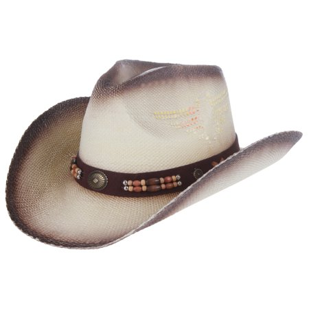 cf5d32c908a4b Enimay Outdoor Men s Womens s Western Outback Straw canvas Cowboy Hat Light  Brown Band One Size - Walmart.com