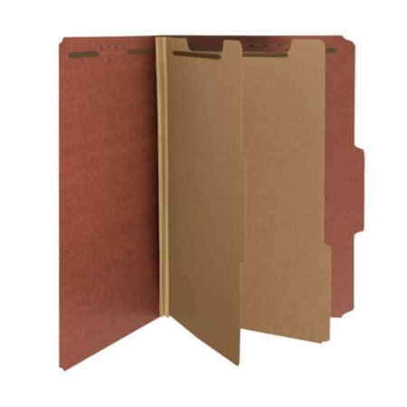Smead 100 Percent Recycled Classification Folder 2 Divider - Pack Of