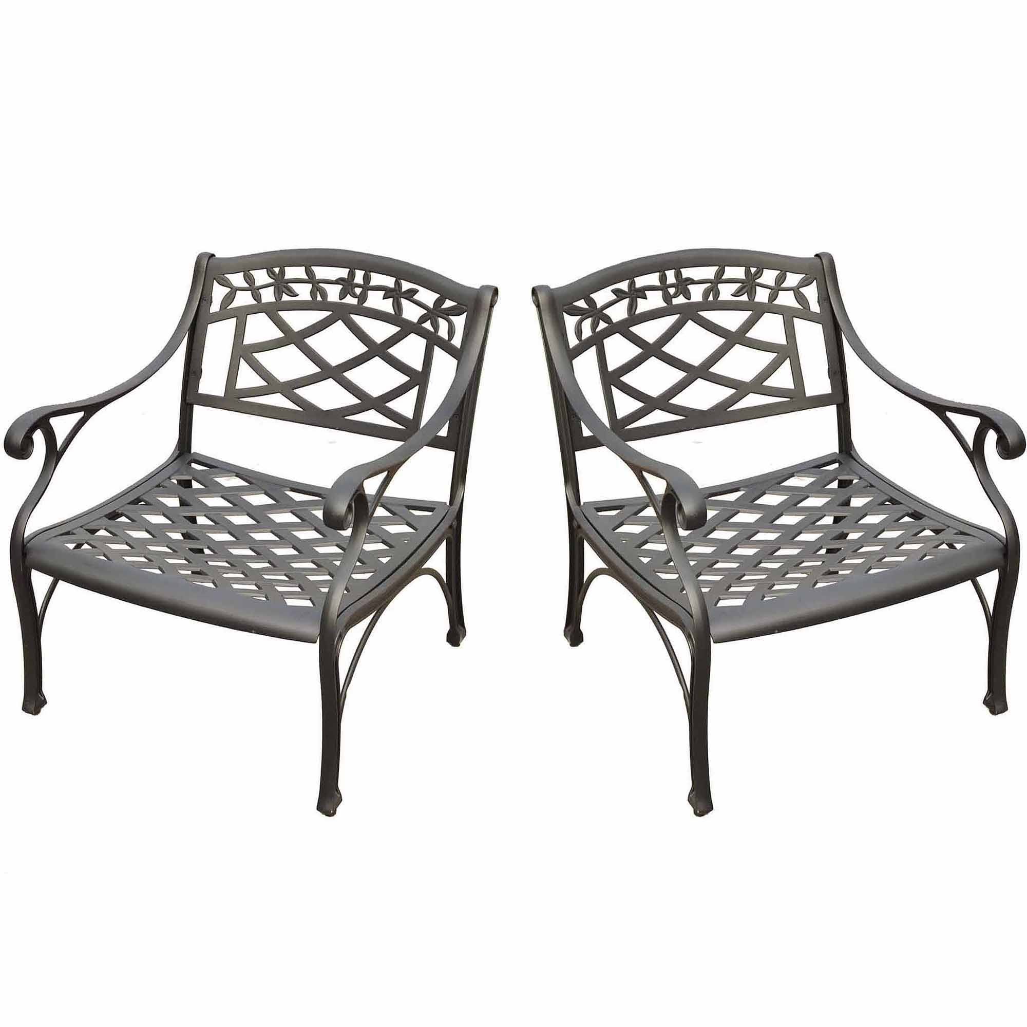 Crosley Furniture Sedona 2 Pc Black Outdoor Conversation Seating Set    Walmart.com