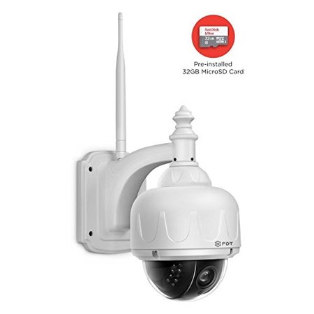 FDT Outdoor PTZ (4x Optical Zoom) HD 960p WiFi IP Camera (1 3 Megapixel),  IP65 Weatherproof, Wireless Security Camera FD7903 (White), Pan/Tilt/Zoom,