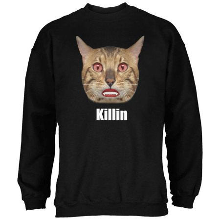 Halloween Killin Cat Black Adult Sweatshirt - Rainbow Loom Halloween Black Cat