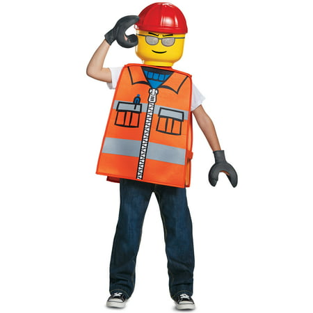 LEGO Construction Worker Basic Child Costume - Lego Halloween Vampires