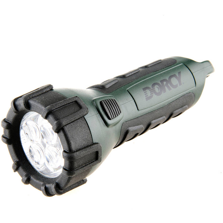 Dorcy 41-2512 32-Lumens Floating Waterproof LED Flashlight with Carabineer Clip, Green Finish by dorcy
