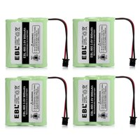 EBL 4-Pack 3.6V 800mAh Replacement Battery For Uniden BT-800 BP-800 BT-905 KX-A36 P-P501 P-P504 Home Cordless Phone
