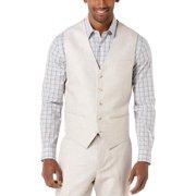 Perry Ellis Vest Natural Tan XX-Large Linen & Cotton Blend Button Front