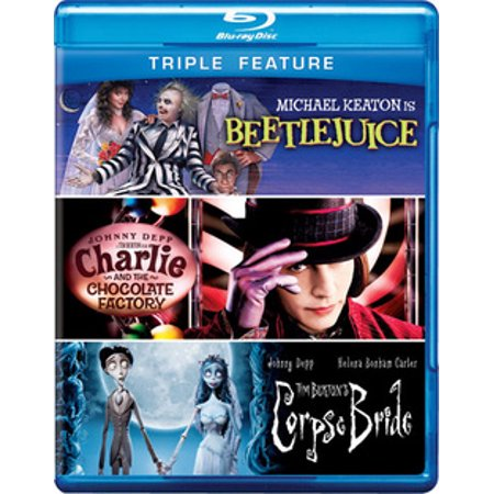 Beetlejuice / Charlie and the Chocolate Factory / Tim Burton's Corpse Bride (Blu-ray)](This Is Halloween Tim Burton)