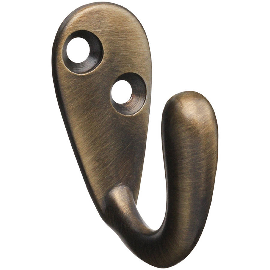 Stanley Hardware 806372 Antique Brass Single Robe Hook by Stanley Hardware