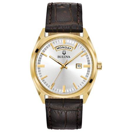 - Bulova Men's Classic Leather Strap Watch