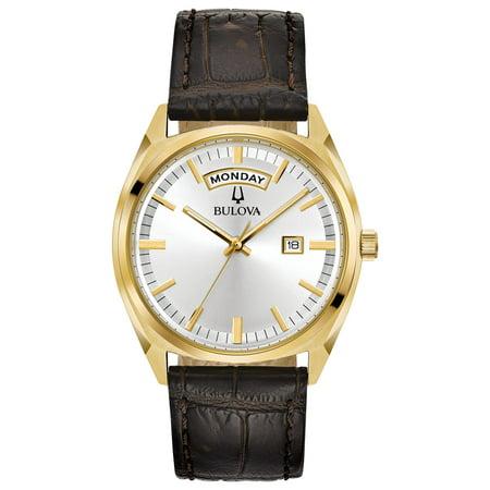 Bulova Men's Classic Leather Strap Watch