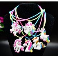 Unicorn Favors Light Up Necklaces Birthday Party Bag Filler Rainbow Unicornio 12