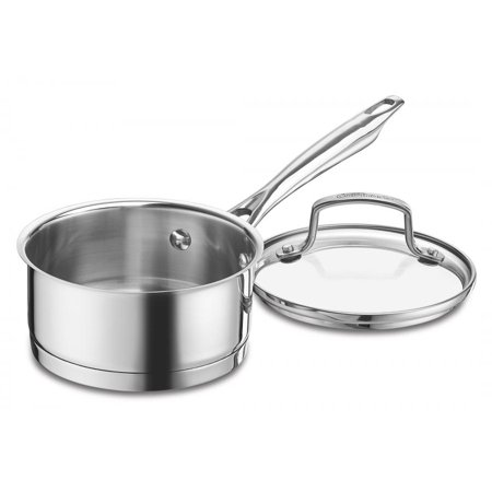 Cuisinart Professional Series Stainless Sauce Pan with Cover - 1 Quart Pot, 1.0 CT