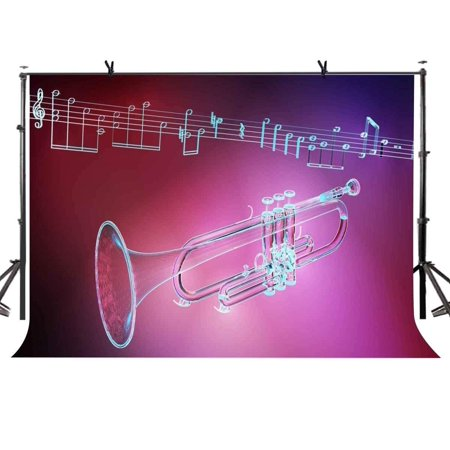 ABPHOTO Polyester 7x5ft Musical Instrument Backdrop Red Music Instrument Photography Background and Studio Photography Backdrop