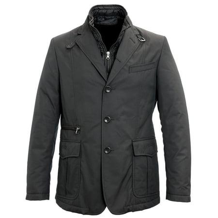 Black Blazer Jacket Coat (Manuel Ritz Convertible Blazer Jacket IT 50 Black )