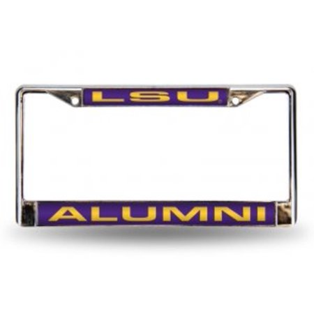 LSU Tigers Alumni Laser Chrome License Plate Frame  Free Screw Caps with this Frame