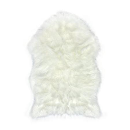 Faux Fur Sheepskin Rug White Furry Rugs For Vanity Seats