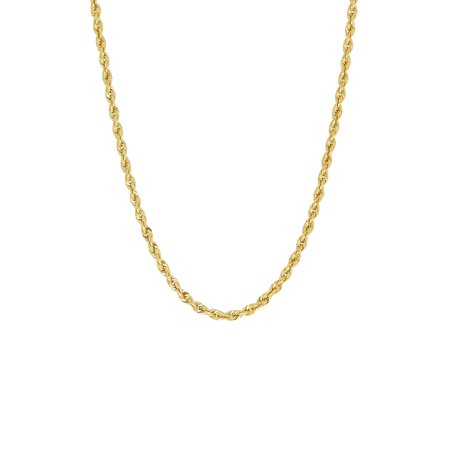 Simply Gold™ 10K Yellow Gold 2.9mm Rope Chain Necklace, 22