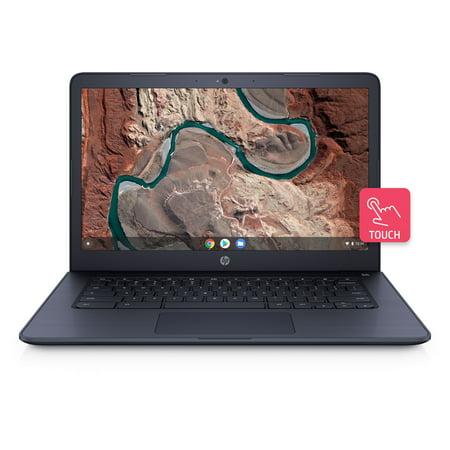 """HP Chromebook 14, 14"""" Full HD Touchscreen Display, AMD A4-9120C, AMD Radeon R4 Graphics, 4GB SDRAM, eMMC, Audio by B&O, Ink Blue, 14-db0044wm"""