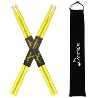 Donner Maple Wood Yellow Drum Sticks 5A Classic 2 Pair with Carrying Bag